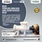 Jual Mesin Penggiling Limbah Ikan, Ayam, Daging, dll Kapasitas Besar di Yogyakarta