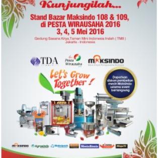 Stand Bazar Maksindo 108 & 109 di PESTA WIRAUSAHA 2016 3,4,5 Mei