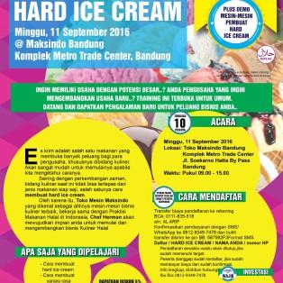 Training Usaha Hard Ice Cream di Bandung, 11 September 2016