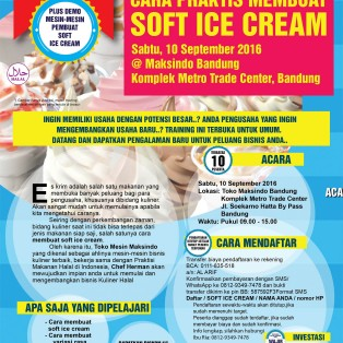 Training Usaha Soft Ice Cream di Bandung, 10 September 2016
