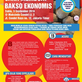 Training Usaha Bakso Ekonomis di Condet, 3 September 2016