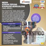 Jual Mesin Ayakan Tepung Stainless Berkualitas di Yogyakarta