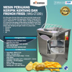 Jual Mesin Perajang Keripik Kentang dan French Fries – MKS-CT100A di Yogyakarta