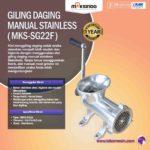 Jual Giling Daging Manual Stainless MKS-SG10 di Yogyakarta
