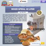Jual Mixer Spiral 40 Liter (MKS-SP40) di Yogyakarta