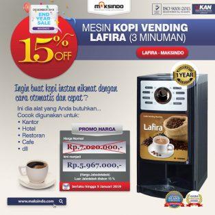 Jual Mesin Kopi Vending LAFIRA (3 Minuman) di Yogyakarta
