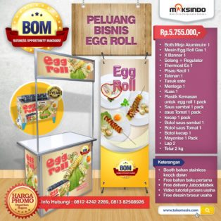 Paket Usaha Egg Roll Gas Program BOM
