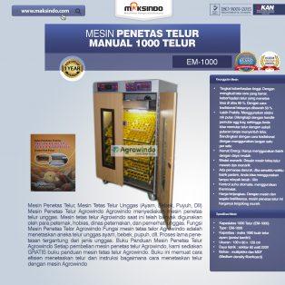 Jual Mesin Penetas Telur Manual 1000 Telur (EM-1000) di Yogyakarta