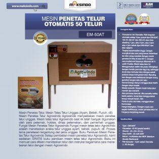 Jual Mesin Penetas Telur Otomatis 50 Telur (EM-50AT) di Yogyakarta