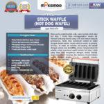 Jual Mesin Stick Waffle (hot dog wafel) di Yogyakarta
