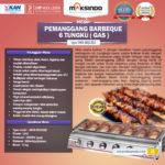 Jual Pemanggang BBQ Stainless (gas) 6 Tungku di Yogyakarta