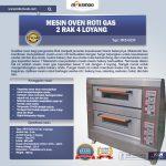 Jual Mesin Oven Roti Gas 2 Rak 4 Loyang (GO24) di Yogyakarta