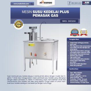 Jual Mesin Susu Kedelai Plus Pemasak Gas (SKD200) di Yogyakarta