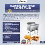 Jual Gas Deep Fryer 24 Liter 2 Tank (G74) di Yogyakarta