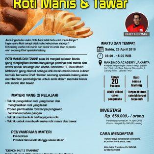 Training Usaha Roti Manis dan Tawar, 28 April 2018
