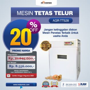 Jual Mesin Tetas Telur Industri 528 Butir (Industrial Incubator) di Yogyakarta