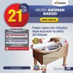 Jual Mesin Adonan Bakso (Fine Cutter) MKS-QW724 di Yogyakarta