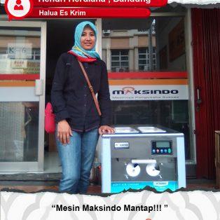 Hendri Herdiana : Merasa Percaya Diri Dalam Menjalankan Usaha Ice Cream Dari Mesin Maksindo