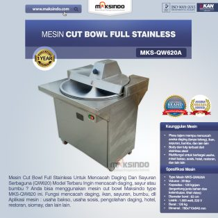 Jual Mesin Cut Bowl Full Stainless (QW620A) di Yogyakarta