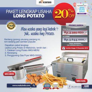 Jual Paket Mesin Long Potato Kentang Panjang, MKS-MER2 di Yogyakarta