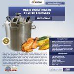 Jual Mesin Panci Presto 51 Liter Stainless (PRC50) di Yogyakarta