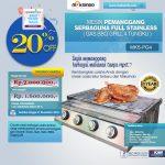 Jual Pemanggang Serbaguna – Gas BBQ Grill 4 Tungku di Yogyakarta