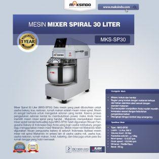Jual Mixer Spiral 30 Liter (MKS-SP30) di Yogyakarta