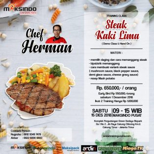 Training Usaha Kreasi Olahan Steak, Sabtu, 15 Desember 2018