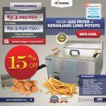 Jual Mesin Gas Fryer MKS-G20L + Keranjang Long Potato di Yogyakarta