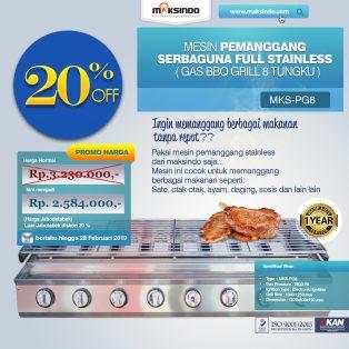 Jual Pemanggang Serbaguna – Gas BBQ Grill 8 Tungku di Yogyakarta