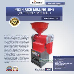 Jual Mesin Rice Milling 3in1 (Butterfly Rice Mill) AGR-BTFLY220 di Yogyakarta