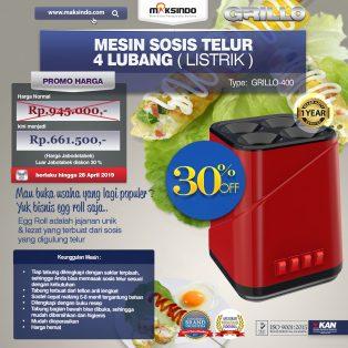 Jual Mesin Sosis Telur 4 Lubang Grillo-400 di Yogyakarta