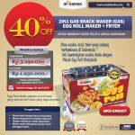 Jual Mesin Egg Roll Gas 2in1 Plus Fryer ERG007 Maksindo di Yogyakarta