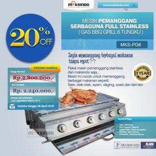 Jual Pemanggang Serbaguna – Gas BBQ Grill 6 Tungku di Yogyakarta