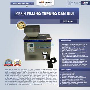 Jual Mesin Filling Tepung dan Biji (2-200 gr) di Yogyakarta