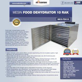 Jual Mesin Food Dehydrator 10 Rak (FDH10) di Yogyakarta