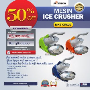Jual Mesin Ice Crusher MKS-CRS20 di Yogyakarta