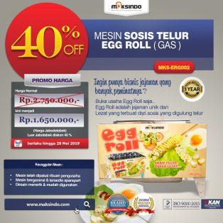 Jual Mesin Pembuat Egg Roll (Gas) MKS-ERG002 di Yogyakarta