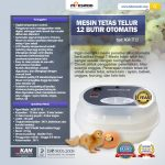 Jual Mesin Tetas Telur 12 Butir Otomatis – AGR-TT12 di Yogyakarta