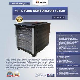 Jual Mesin Food Dehydrator 10 Rak (MKS-DR10) di Yogyakarta