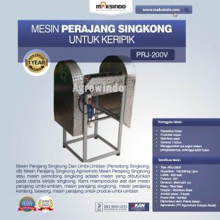 Jual Mesin Perajang Singkong Untuk Keripik PRJ-200V di Yogyakarta