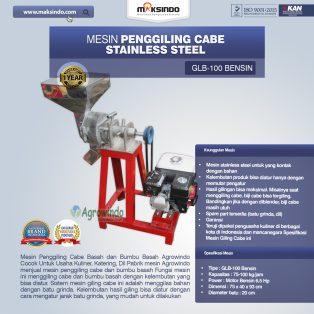 Jual Mesin Penggiling Cabe Stainless Steel di Yogyakarta