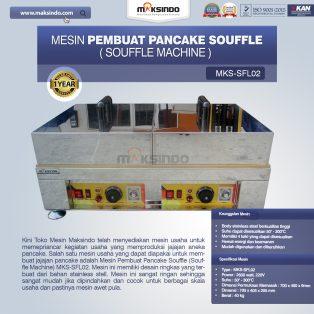 Jual Mesin Pembuat Pancake Souffle (Souffle Machine) MKS-SFL02 di Yogyakarta
