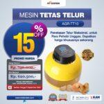 Jual Mesin Tetas Telur 10 Butir (AGR-TT-10) di Yogyakarta