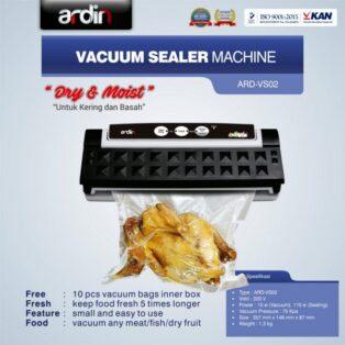 Jual Mesin Vacuum Sealer VS02 Ardin (basah dan kering) di Yogyakarta