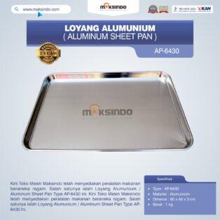 Jual Loyang Alumunium / Aluminum Sheet Pan Type AP-6430 di Yogyakarta