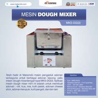 Jual Mesin Dough Mixer MKS-DG03 di Yogyakarta