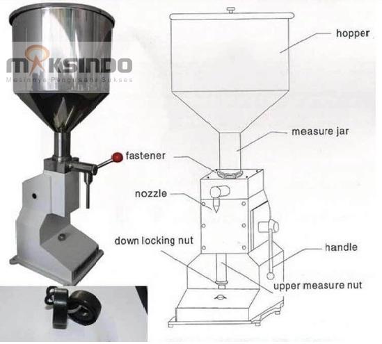 Jual Mesin Manual Filling Cairan-Pasta – MKS-MF10 di Yogyakarta