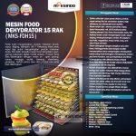 Jual Mesin Food Dehydrator 15 Rak (FDH15) di Yogyakarta
