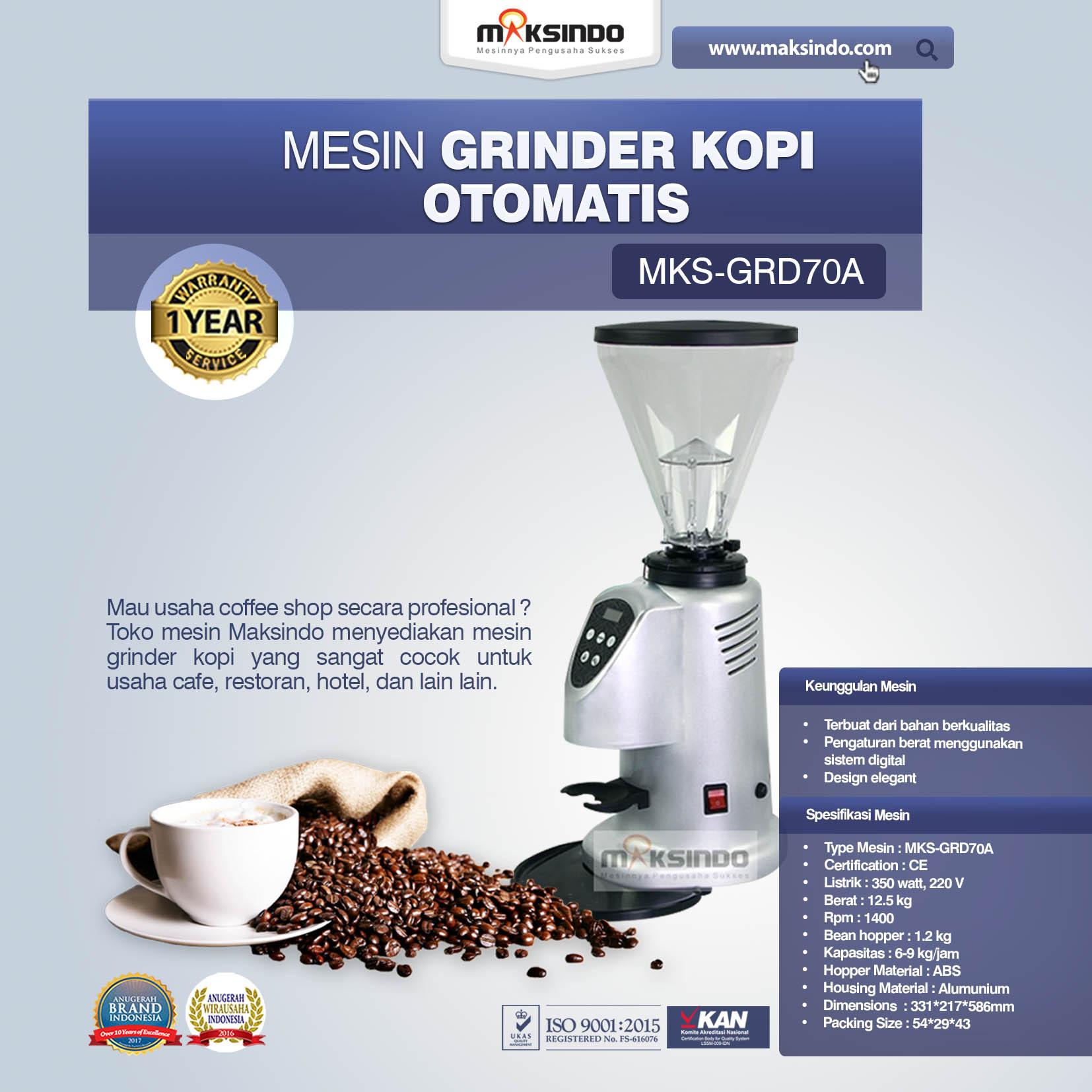 Jual Mesin Grinder Kopi Otomatis – MKS-GRD70A di Yogyakarta